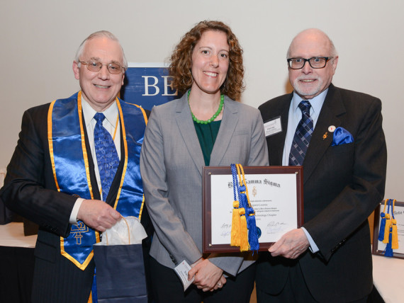 Irene Loomis inducted into Beta Gamma Sigma
