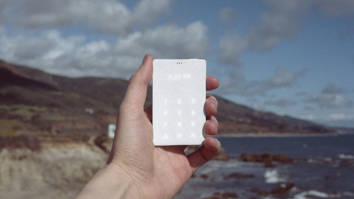 The Light Phone co-created by IIT Institute of Design grad Kaiwei Tang
