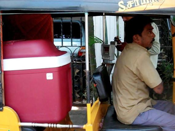 godrej chotukool in rickshaw