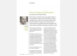 Service Design at McDonald's